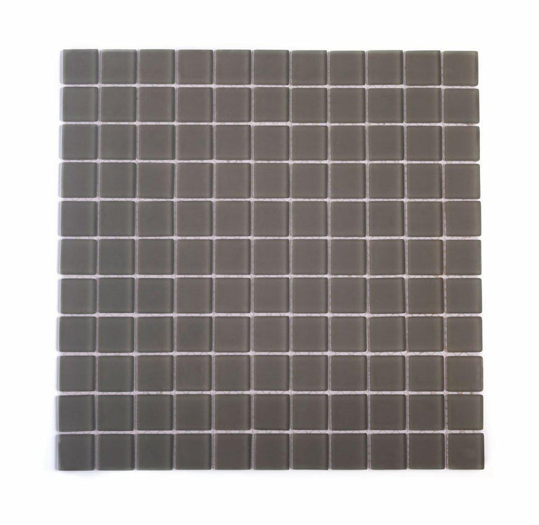 1x1 Glass Glacier Frosted Tile|Tile Club