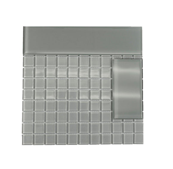 Glacier Gray 3X12 Polished Glass Tile Position: 1