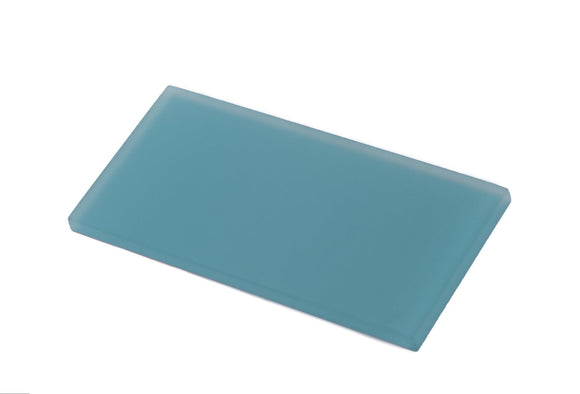 Glacier Laguna Blue 3X6 Frosted Glass Tile Position: 1