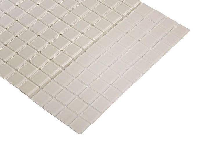 Glacier Natural White 1X1 Frosted Glass Tile Position: 1