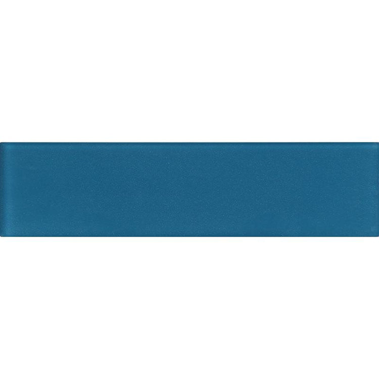 3x12 frosted glass tile blue
