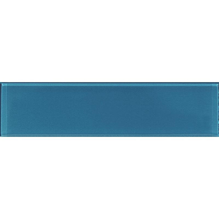 3x12 Polished Blue Glass Tile