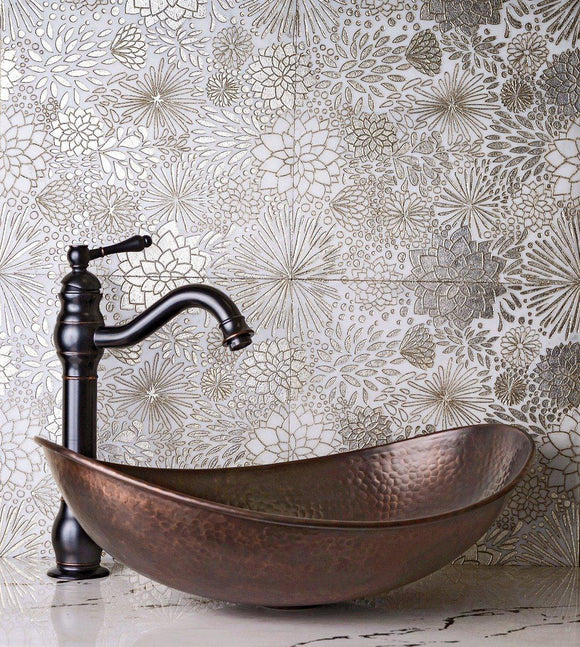 Gold Bouquet Marble Tile for Bathroom
