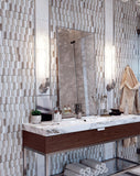 "12.3"" x 12.4"" Sand Valley & Thassos Piquet Mosaic Tile for Grandeur"
