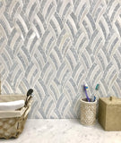 Imperial White Marble Mosaic Tile|Tile Club