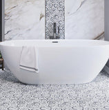 white swirl micro mosaic tiles for bathroom