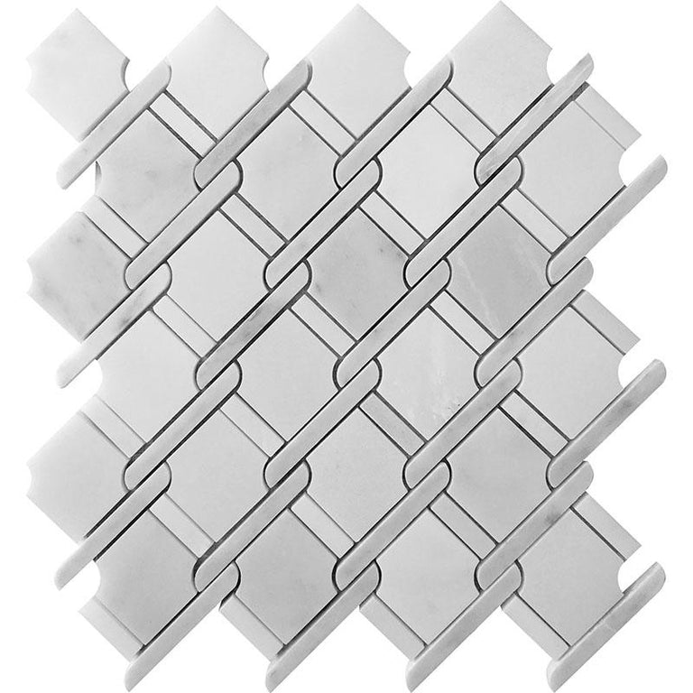 Tile Club | Italiano White Marble Mosaic Wall & Floor Tile position: 1
