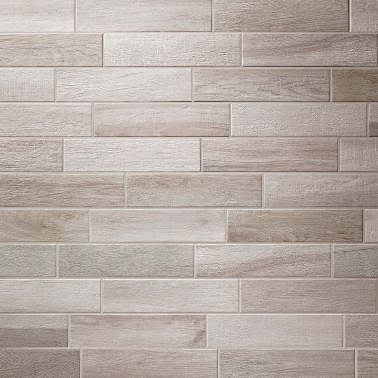 King Silver Porcelain Wood Grain Tile