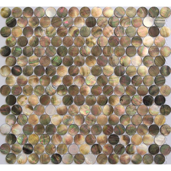 Mother Of Pearl Deep Sea Penny Rounds Mosaic Tile | Tile Club | Position1