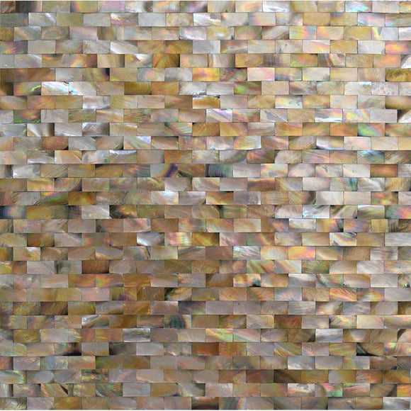 Mother Of Pearl Gold Bricks Mosaic Tile | Tile Club | Position1