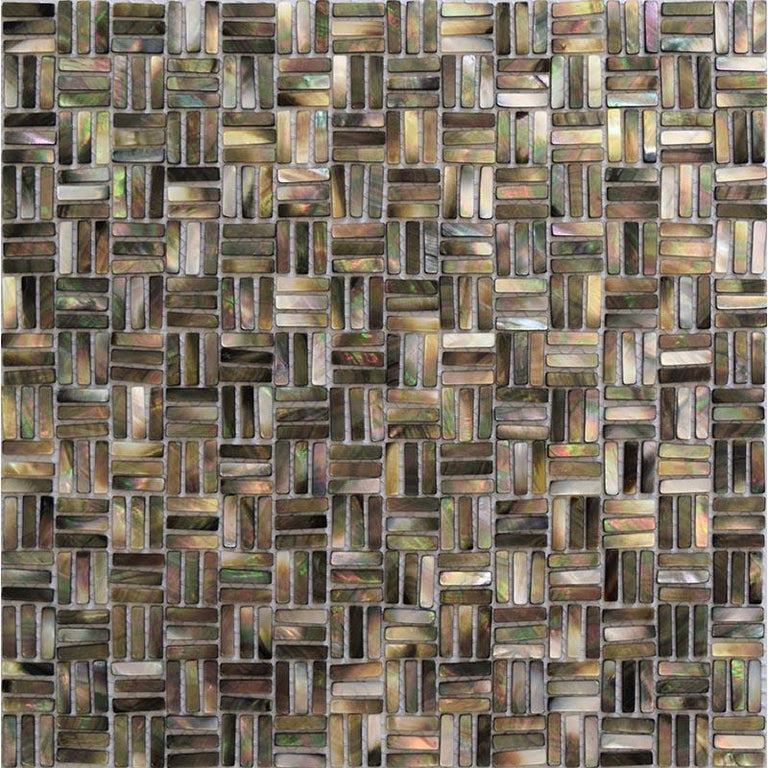 "11.5"" x 11.5"" Mother Of Pearl Weave Mosaic Tile 