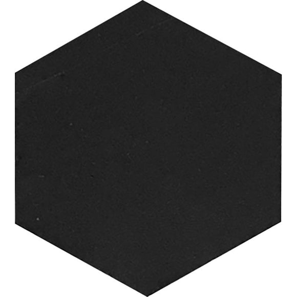 Nero Marquina 10 Inch Hexagon Honed Marble Mosaic Tile position: 1
