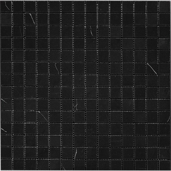 nero marquina polished mosaic tiles