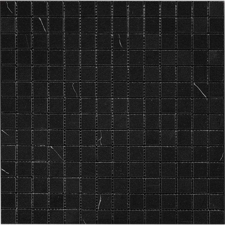 Nero Marquina 1X1 Polished Marble Mosaic Tiles | Tile Club | Position1