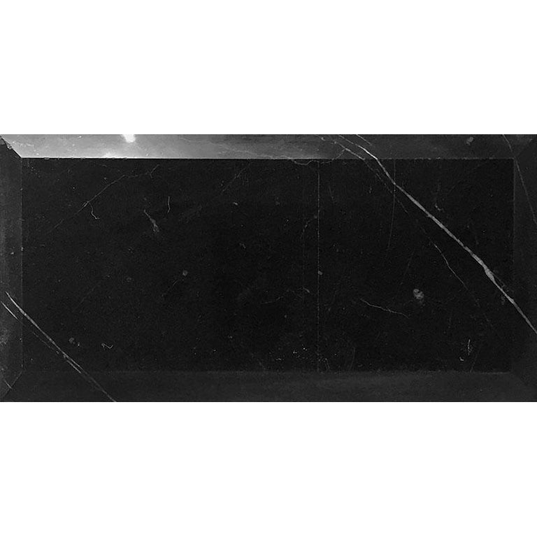 Nero Marquina 3X6 Beveled Marble Tile | Tile Club | Position1