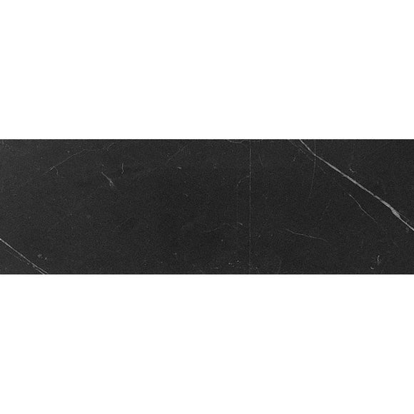 4x12 Honed Nero Marquina Marble Tile