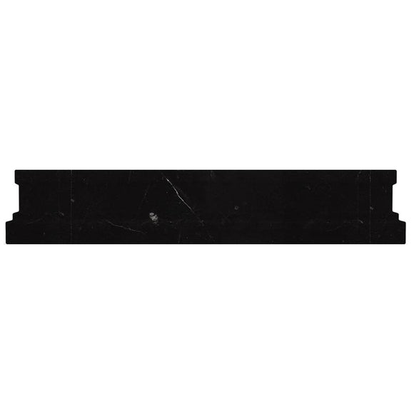 Nero Marquina Marble Nova Chair Rail Honed | Tile Club | Position1