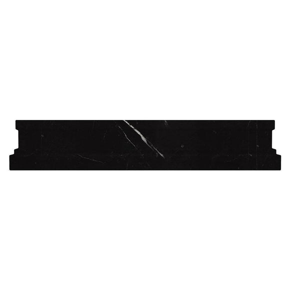 Nero Marquina Marble Nova Chair Rail Polished | Tile Club | Position1