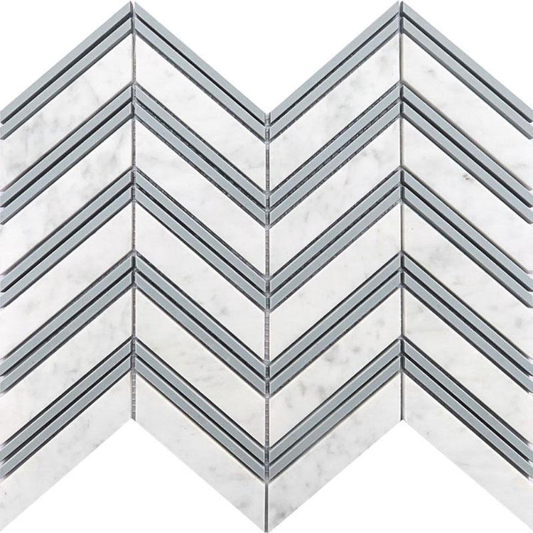 Tile Club | Nova Chevron Carrara Marble Wall & Floor Tile position: 1