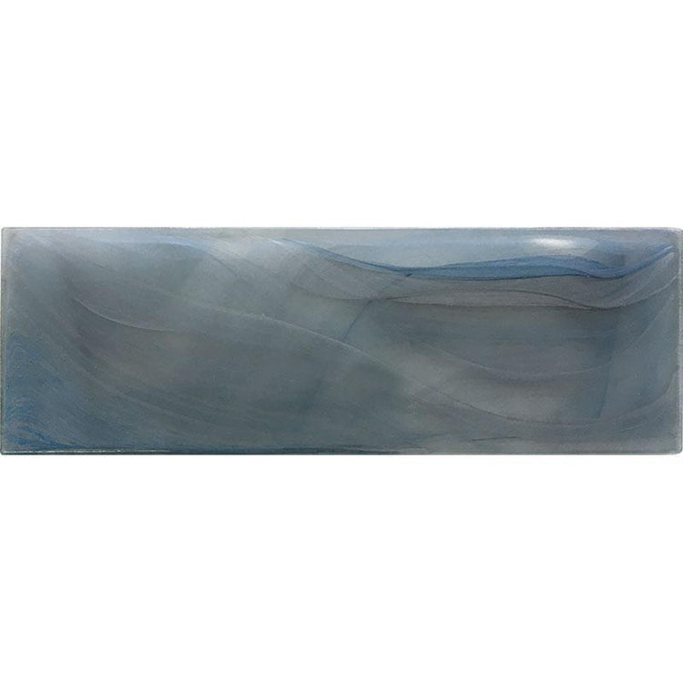 "3"" x 9"" Ocean Glass Blue Tile 