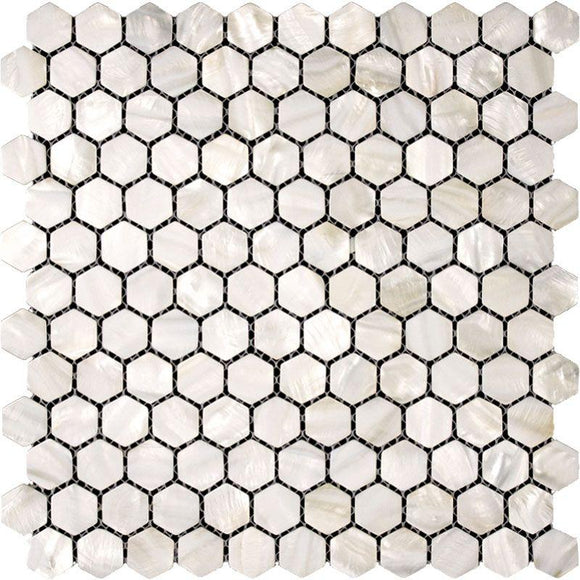 Mother of Pearl Hexagon Tile