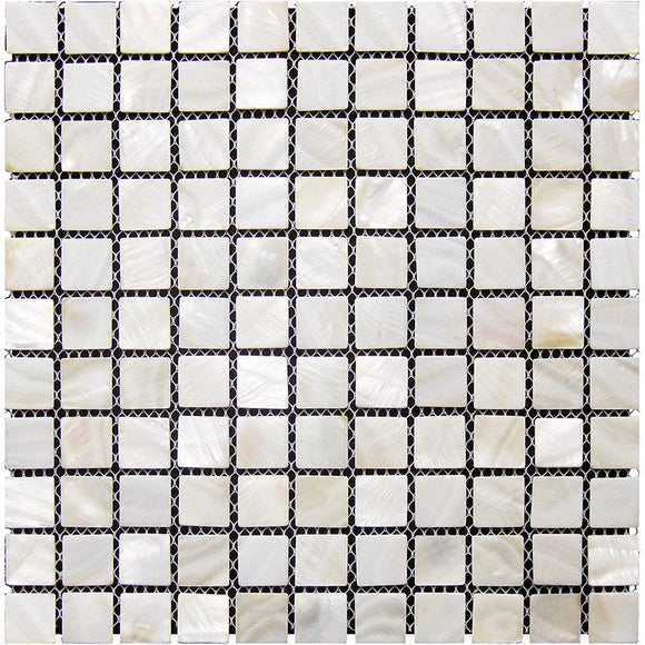 Pure White Mother Of Pearl Square Mosaic Tile | Tile Club | Position1