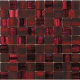 red frosted mosaic tile