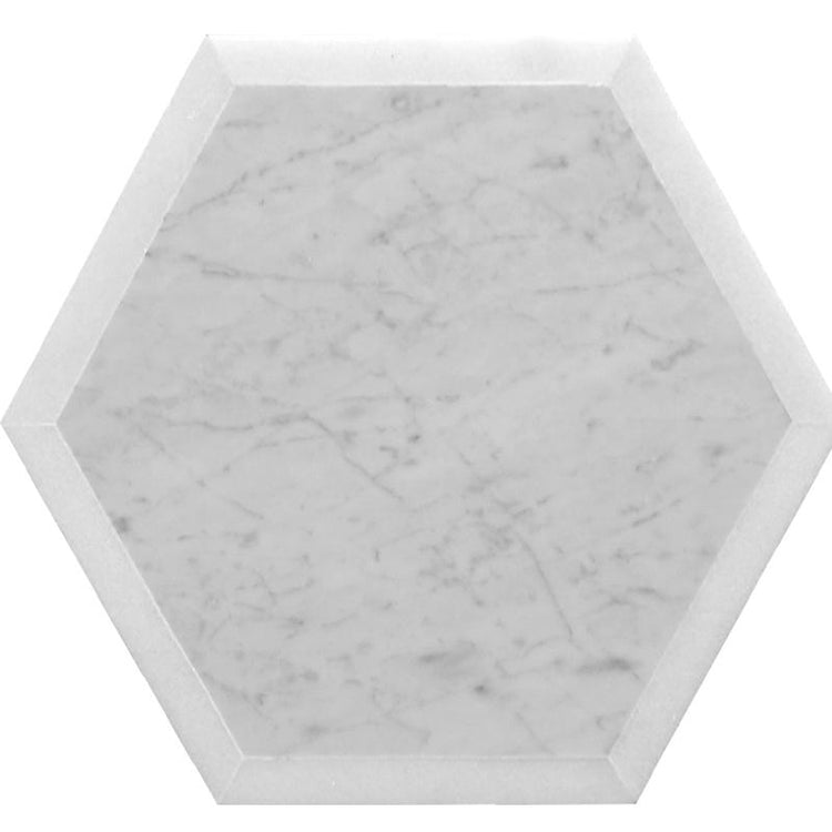 Selo Grand Hex carrara marble hexagon tile