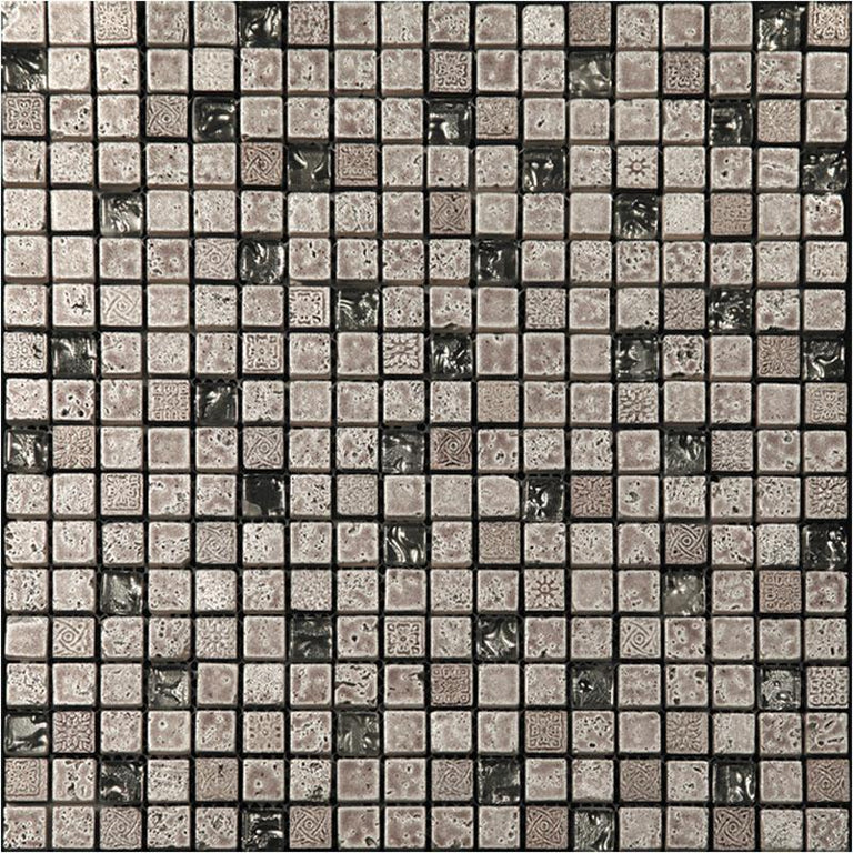 "12"" x 12"" Silver Pharaoh Mosaic Tile 