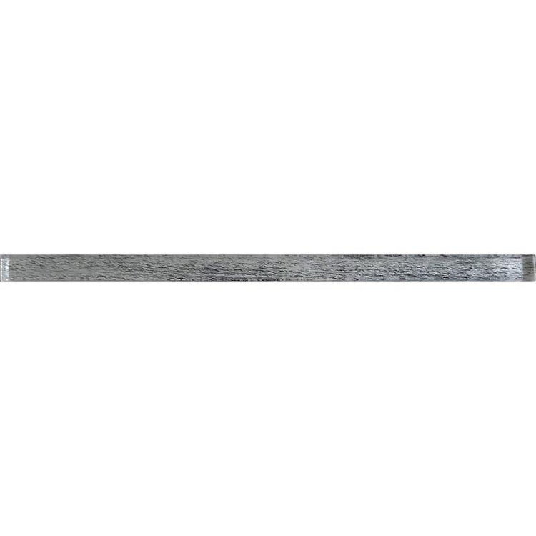 "0.6"" x 12"" Silver Wooden Glass Pencil Liner 
