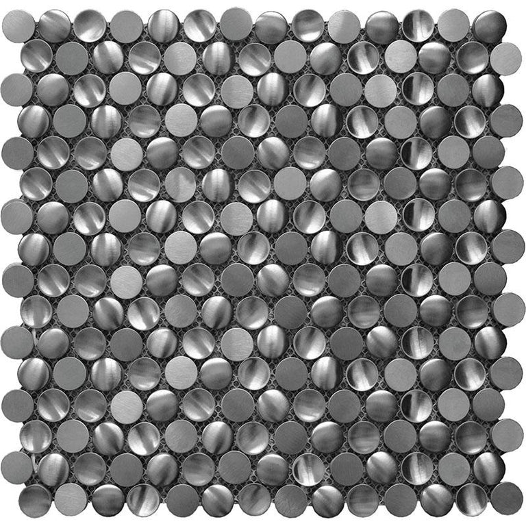 Stainless Penny Pebble Metal Mosaic Tile | Tile Club | Position1