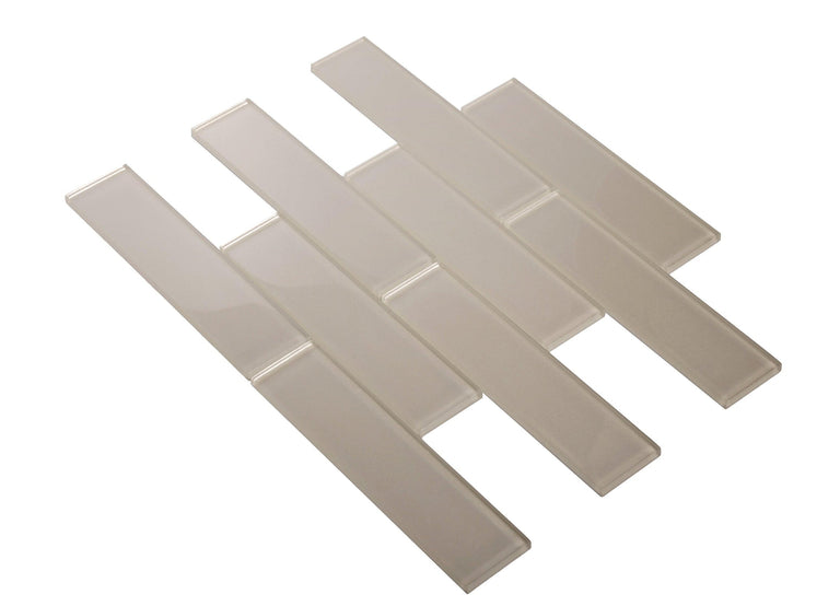 Stardust Ice 2X8 Glass Mosaic Tile Position: 2