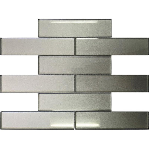 Stardust Pewter 2X8 Glass Mosaic Tile | Tile Club | Position1