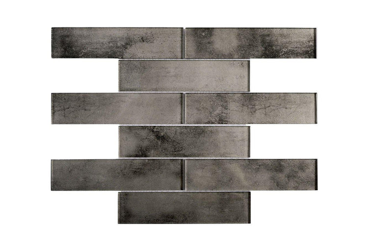Stardust Suede 2X8 Glass Mosaic Tile Position: 1