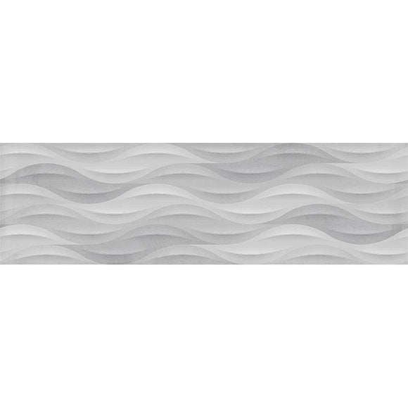 Tile Club | TANGO GREY WAVE  Polished  White  Porcelain  Tile position: 1