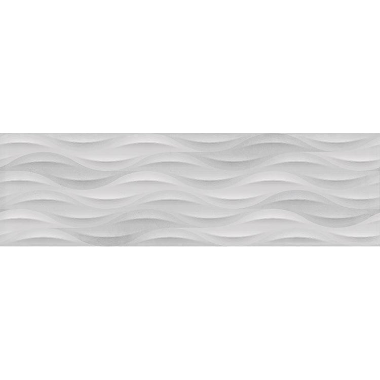 TileClub TANGO IVORY WAVE  Polished  White  Porcelain  Tile position: 1