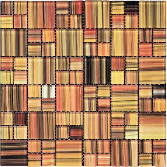 Tropical Sunset Glass Mosaic Squares