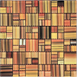 "11.8"" x 11.8"" Tropical Sunset Glass Mosaic Squares"