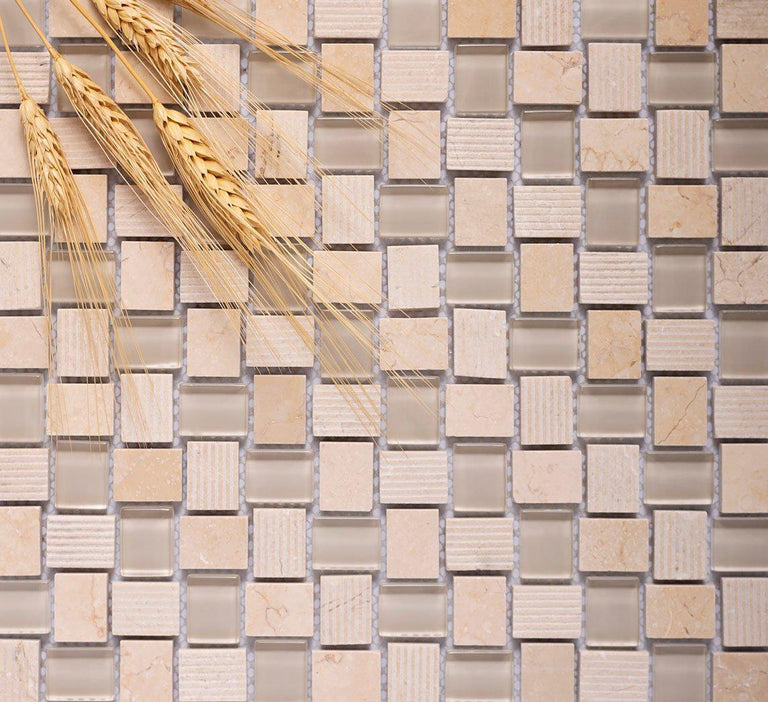 textured glass mosaic tile