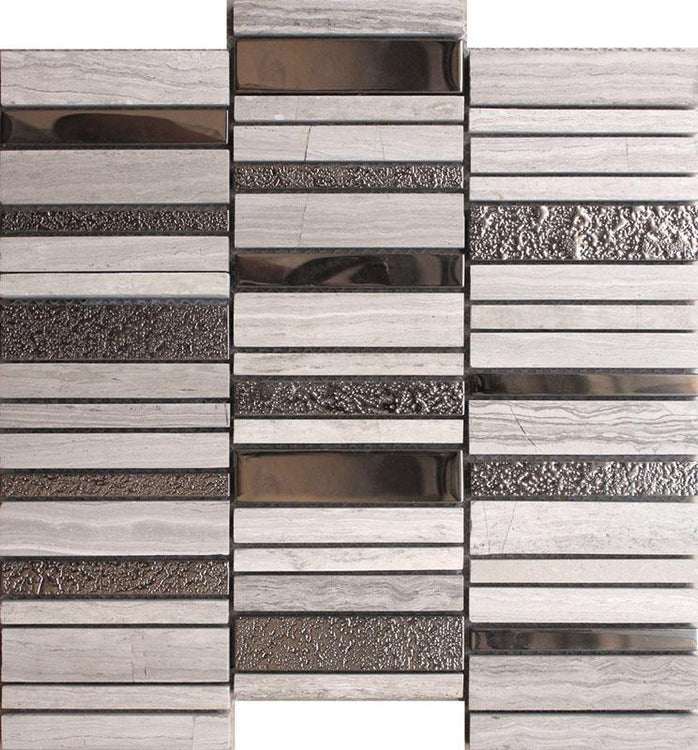 Villa Rapids Gray Marble & Glass Mosaic Tile | Tile Club | Position1