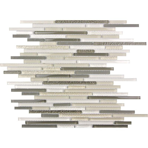 Waterfall Beige & White Linear Glass Mosaic Tile | Tile Club | Position1