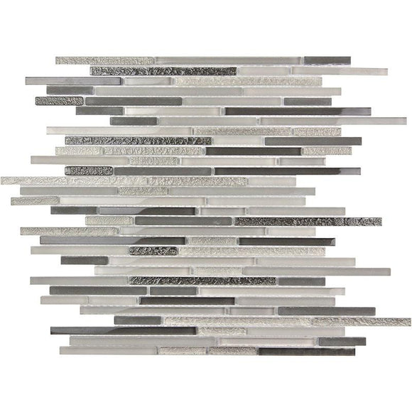 Waterfall Gray Linear Glass Mosaic Tile | Tile Club | Position1