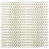 White Pearl Penny Recycled Glass Mosaic Tile | Tile Club | Position1