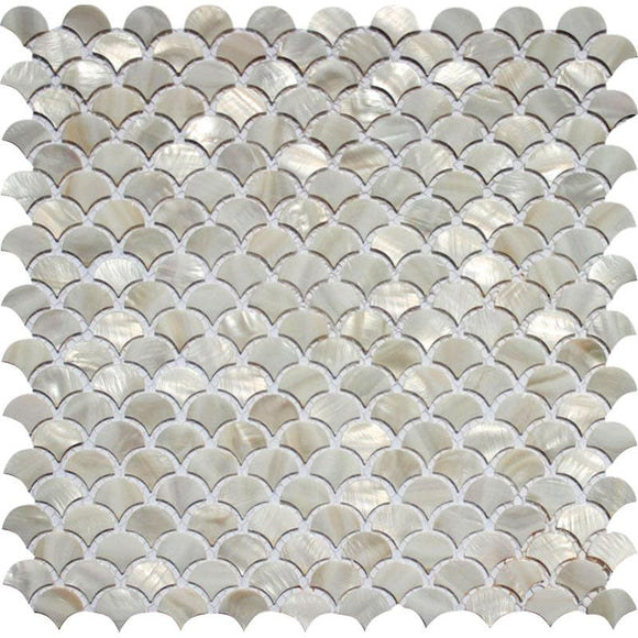 White Scales Mother Of Pearl Mosaic Tile | Tile Club | Position1