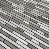 Wooden Beige and Athens Grey stick marble mosaic tile
