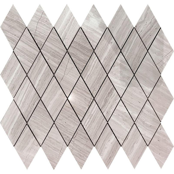 Wooden Beige Diamond Marble Mosaic Tile | Tile Club | Position1