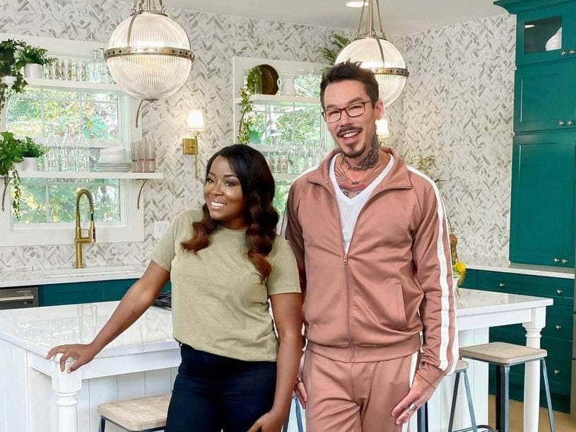 Colorful Kitchen seen on HGTV's Rock the Block