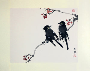 Two Crows and Berries