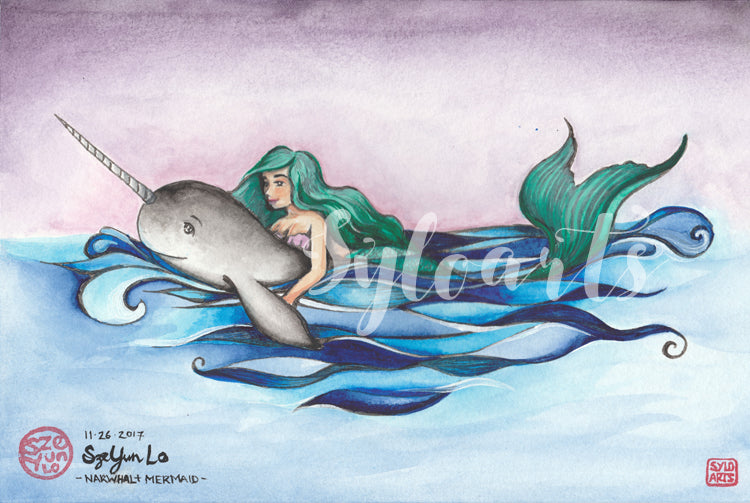 Narwhal + Mermaid