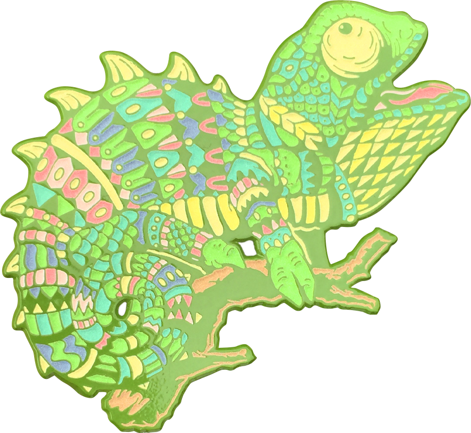 Emerald Chameleon Pin (Edition of 40)